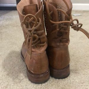 Cute light brown leather boots! Size 9. Worn once